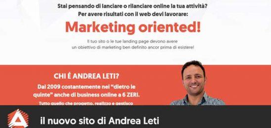 Online il nuovo sito di Andrea Leti